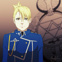 FMA - Riza Hawkeye by tnomania