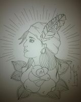 Fortune teller tattoo design by booders9