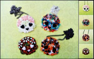 Sugar Skulls by cheese-cake-panda
