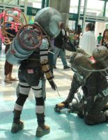 Big sister and the Delta big daddy from Bioshock 2 by trivto