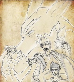 Sketch Dump: Generator Rex Wakfu by flickersowner