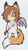Chibi/Paperchild Eve .:Colored:. by LunaTheRenahog