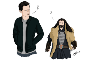 Commission:Richard Armitage and Thorin Oakenshield by Aoi-nikkou