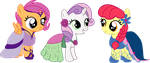 Cutie Mark Crusader Gala Dresses! Yay! by LottaPotatoSalad