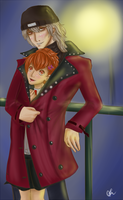 Shinjiro x Minako by Rainbow-Hare