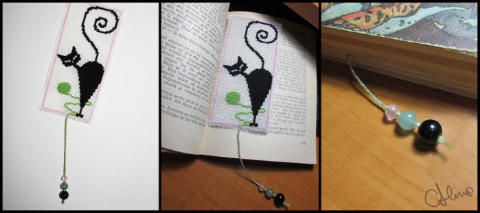 Kitty bookmark by AlinaFM