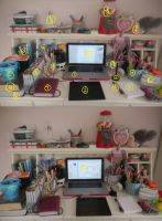 My workspace by babyunicornart