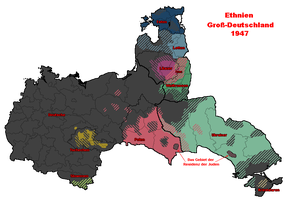Ethnicities Greater Germany (1947) by Willkozz