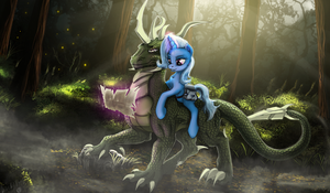 Long, strange trip Trixie by LuckyDragoness