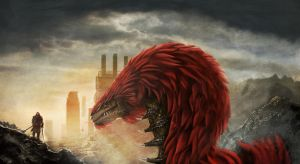 Face to Face with the Ruin-Snake by Brollonks