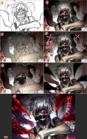 Kaneki step by step by kawacy