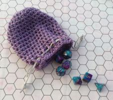 Lavender dice bag by silverfaction