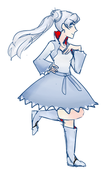 Weiss RWBY by MeowTownPolice