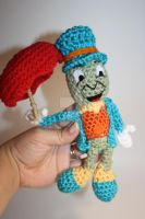 Crochet Jiminy Cricket Plush by DunnWithLove