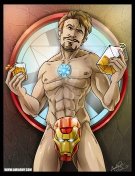 Tony Stark...Ya want some of this? by Amelie-ami-chan