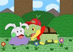 Franklin the Turtwig and new friend Goomy by MCsaurus
