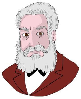 Alexander Graham Bell by Grilliperlatesta