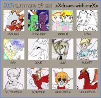 2009 Art Summary xXd-w-mXx by babybluedreams