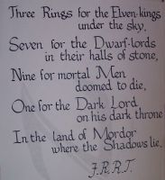 Lord of the Rings verse by Bonnzai