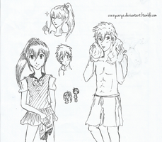Makoto and Gou doodles by crazycaryz