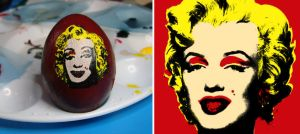 Marilyn-Warhol Egg by JSTradArt