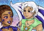 ACEO CA friends Sugilite and Chalcedony by nickyflamingo