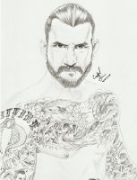 CM Punk: Straight Edge Saviour by Crystal-Cat