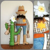 Sheriff Steve and his Side-kick Cactus Carly by Saint-Angel