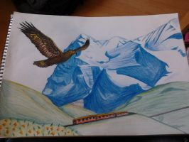 Drawing Mountains #15 by Aria7BlackDragon