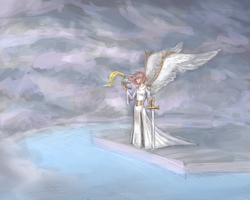 A Knight in the Clouds by yverann