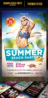 Beach Party Flyer Template by odindesign