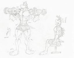 [Request] Growshi and Alowser at gym by McTaylis