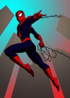 Swinging Spidey by SpiderGuile