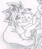 Bearsome Awesome: a yami yugi pencil sketch by YuGiOh4Ever