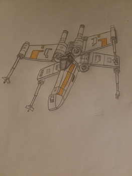 X Wing Fighter by Super-Mantis
