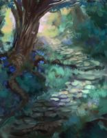 Blue forest - Daily Doodle 22 05 2013 2 by JordyLakiere