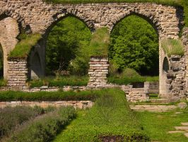 Alvastra Abbey - The Arches by Photopathica