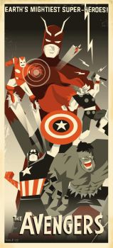Art Deco Avengers by 2D-Assassin