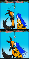 Mistletoe meme by Ask-Fire-Wolf-Prince