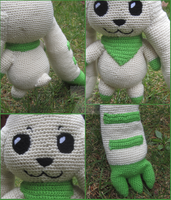 More Life/Anime Size(almost) Terriermon Amigurumi by Krejdar