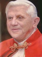 Pope Benedetto XVI OilPainting by michaelandrewlaw