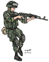 Modern Russian Infantry by NDTwoFives