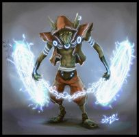 daily hero 26 - electric goblin by shoze