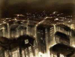 SpeedPainting CIty by sonofamortician