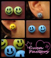 Happy earrings by cuca-factory