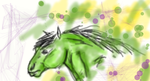 Green Horse by Bits-Unbridled
