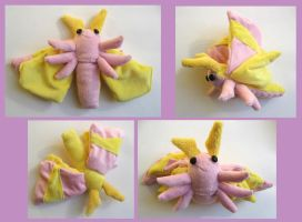 Rosy Maple Moth Plush (mark 4) by erinlamothe