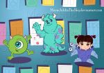 Monster Inc  Chibis by MoonchildinTheSky