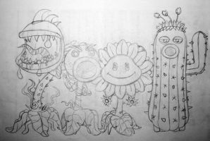 Garden Warfare: Plants sketch by nina06