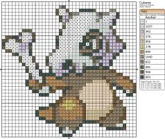 104 - Cubone by Makibird-Stitching